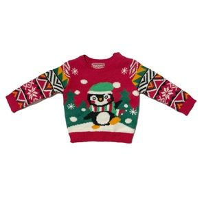 Happy Holidays Sweater Christmas Knitted Size 6M